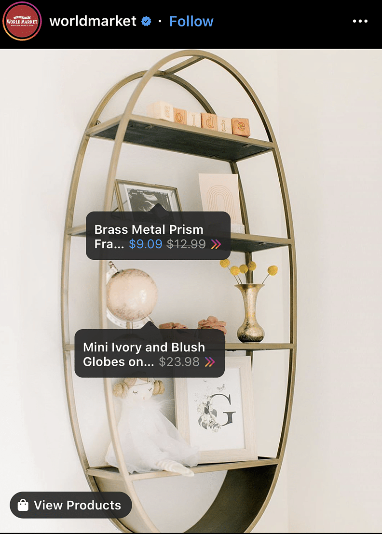 World Market Shoppable Instagram