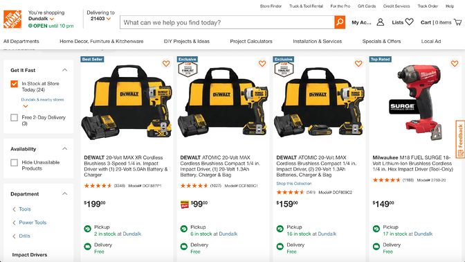 Home Depot Omnichannel Example