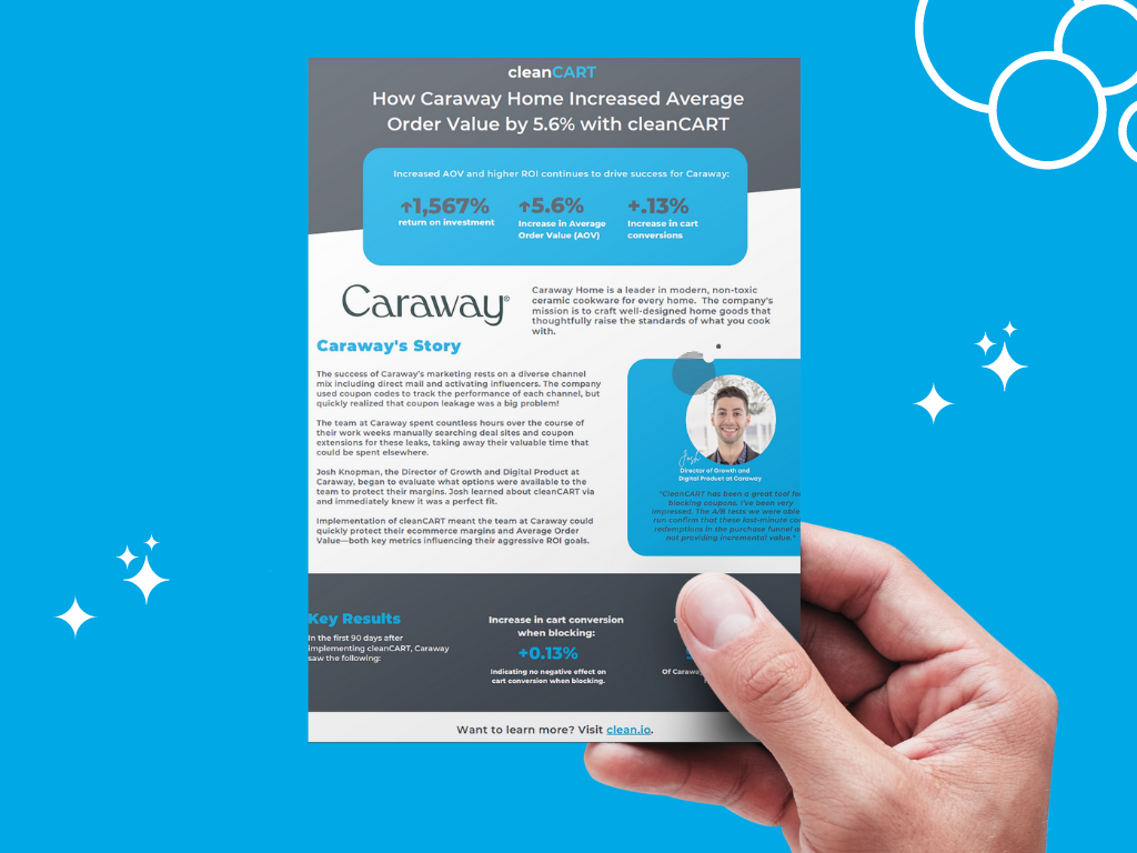 How Caraway Home Increased Average Order Value by 5.6% with cleanCART